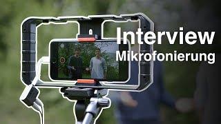 Zwei Mikrofone am Smartphone anschließen - Interview aufnehmen