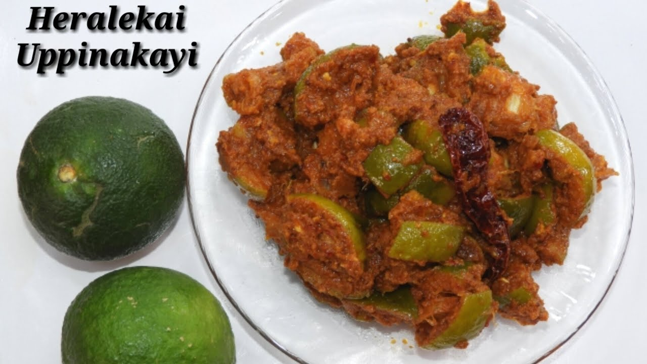 Heralekai Uppinakayi Recipe In Kannada ಹ ರಳ ಕ ಯ