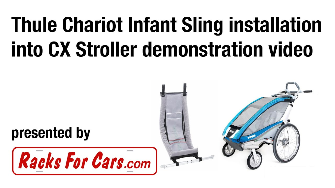 903d22bd5ff How to install an Infant Sling into your Thule Chariot CX stroller - Installation  Demonstration