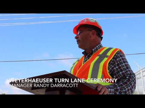Weyerhaeuser Turn Lane