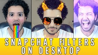 "NEW Snapchat ""Snap Cam"" - How to Use Snapchat Filters on Desktop Computer (SnapCam Update 2018)"