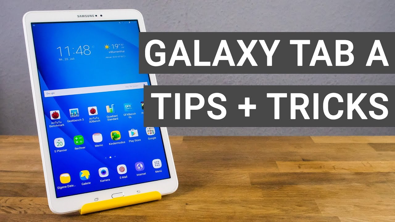 samsung galaxy tab a 10.1 tips and tricks - youtube