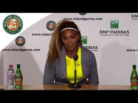 Press conference Serena Williams R1 2014 French Open