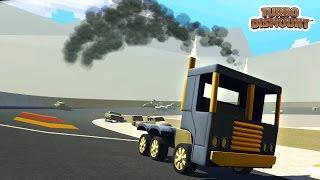 Turbo Dismount #5 Игра как мультик про ТРЮКИ и АВАРИИ машинок ГОНЯЕМ по ГОНОЧНОМУ ТРЕКУ
