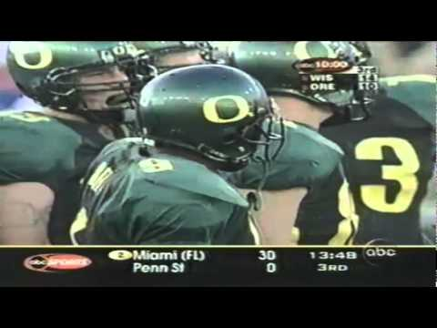 Former Oregon QB Dan Fouts interviewed in the booth during Wisconsin-Oregon 9-01-01