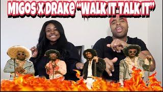 Migos ft Drake - Walk it Talk it (Official Music Video) 🔥🔥| REACTION!!!!