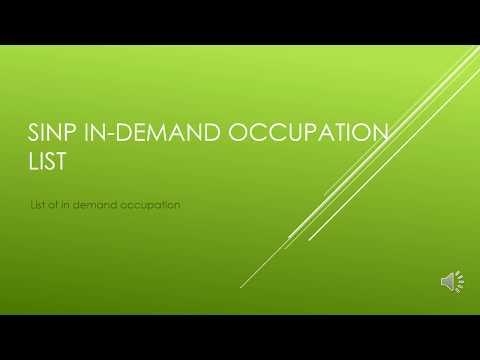 SINP in demand occupation list