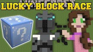 Minecraft: EPIC PIXEL ART LUCKY BLOCK RACE - Lucky Block Mod - Modded Mini-Game