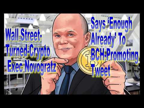 Wall Street Turned Crypto Exec Novogratz Says 'Enough Already' To BCH Promoting Tweet