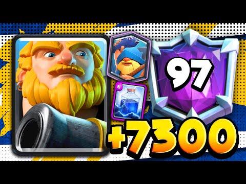 +7300 con GIGANTE NOBLE OP en TOP 97 MUNDIAL!!   Gameplay Clash Royale iAmJP