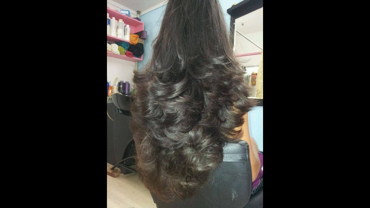 Long Layered Hair Cut Natural Inversion Youtube