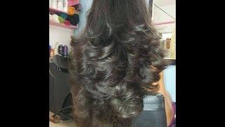 Long Layered Hair cut - Natural Inversion