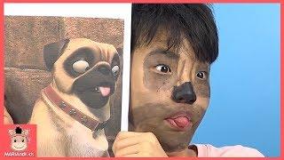 귀여운 동물 변신 영화 속으로 들어갔다! 다람쥐 강아지 고양이 분장 놀이 ♡ 넛잡2 영화 실시판 상황극 kids face painting | 말이야와아이들 MariAndKids