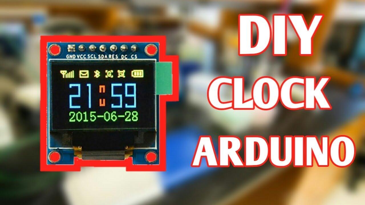 Arduino OLED Clock using DS1307 ic | Arduino OLED clock project