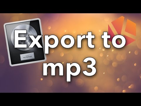 How to Export Songs to mp3 in Logic Pro X Tutorial