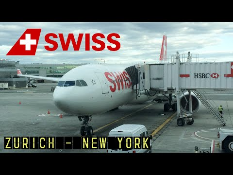 Swiss International Airlines LX16: Zurich - New York JFK (Airbus A330-300) [HD 1080p]