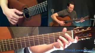 Classical Gas Guitar Lesson - Mason Williams - Part Three