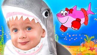 Maya y Mary | Cancion Infantil - Canciones de tiburón bebé