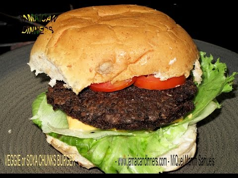 VEGGIE; SOY BURGER: Vegan Recipe