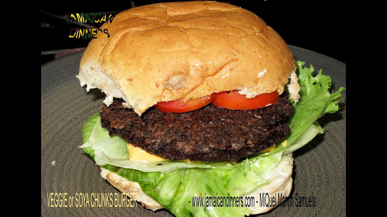 Veggie soy burger vegan recipe youtube forumfinder Choice Image
