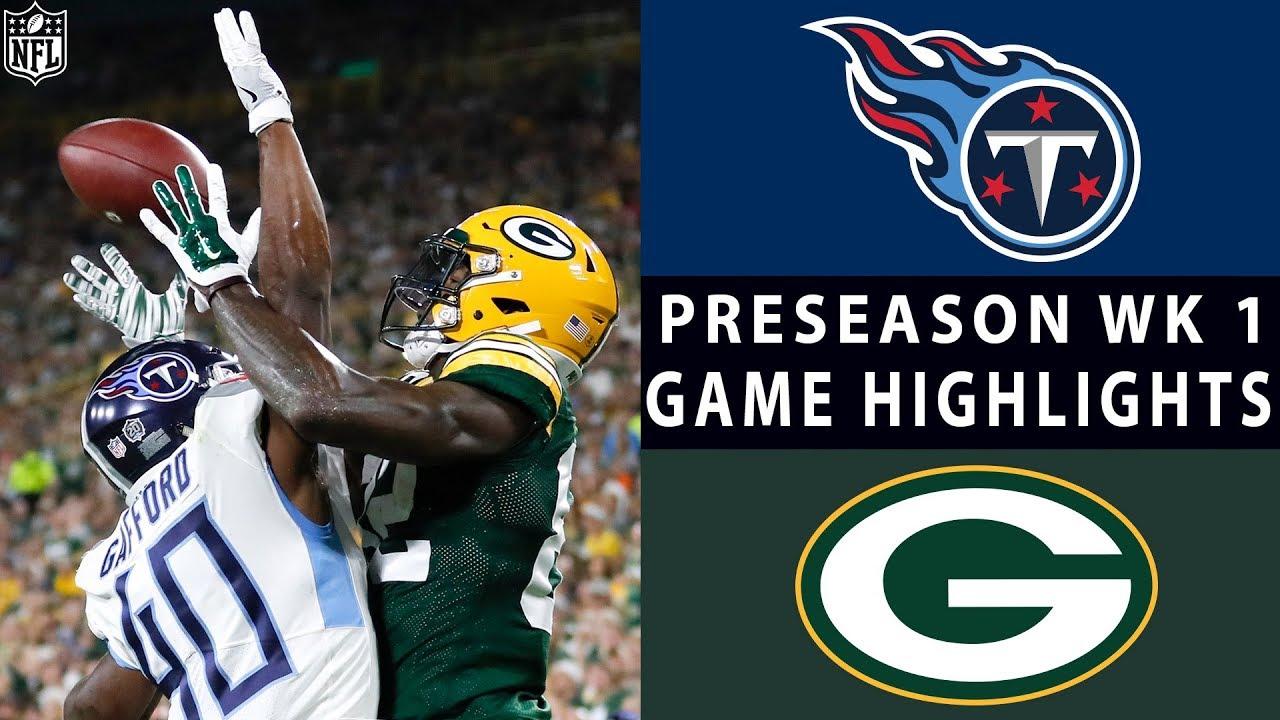 Titans Vs Packers Highlights Nfl 2018 Preseason Week 1 Youtube