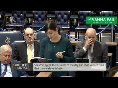 Senator Catherine Ardagh speaking in Seanad Eireann on 27 September 2017