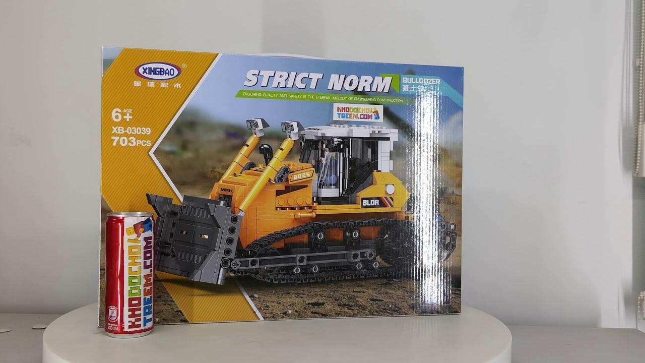 Mở hộp Xingbao XB-03039 Lego Heavy Duty Truck MOC Bulldozer giá sốc rẻ nhất