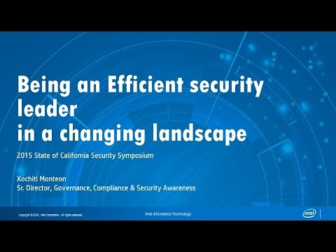 CSS2015: Session 9 Intel - Being an Efficient Security Leader in a Changing Landscape