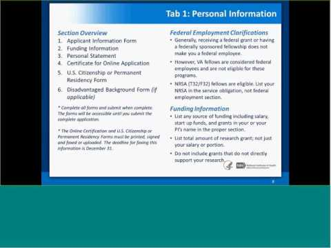 NIH Loan Repayment Programs Application Technical Assistance Webinar