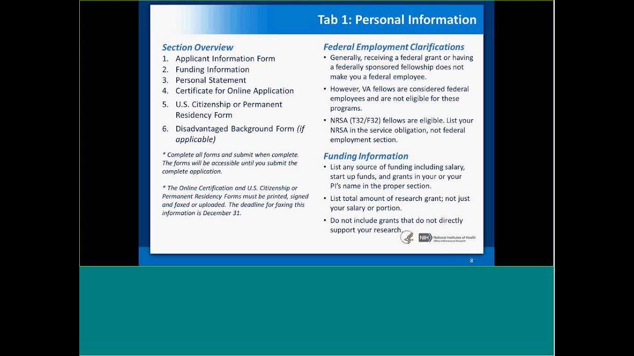 Nih Loan Repayment Programs Application Technical Assistance Webinar