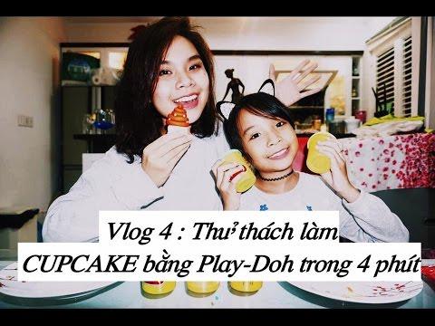 Song Thư Vlog : Thử thách làm bánh Cupcake bằng Play-Doh trong 4 phút