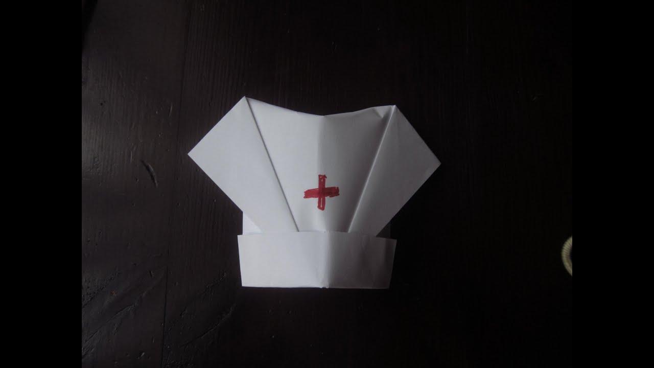 чепчик из бумаги