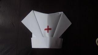 Как сделать Медицинскую Шапочку из бумаги / How to make a medical Riding Hood Paper