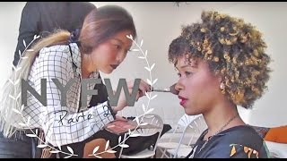 NYFW | Me maquillaron y pintaron las uñas | The Apartment y Backstage