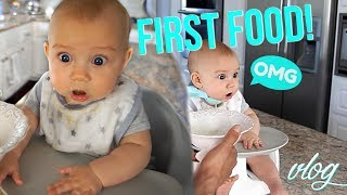 BABY'S FIRST FOOD + MEAL PREP WITH ME!