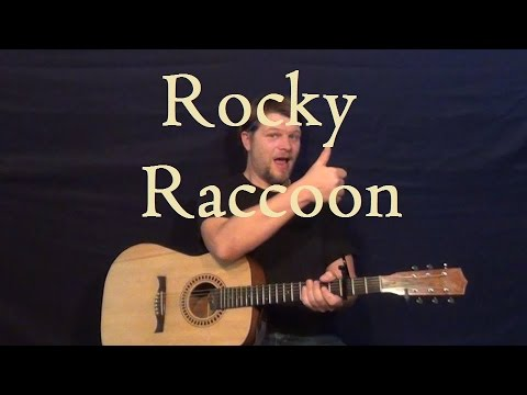 Rocky Raccoon (The Beatles) Easy Guitar Strum Lesson How to Play Tutorial on Rocky Raccoon