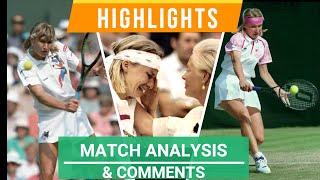 Steffi Graf vs Jana Novotna - Wimbledon 1993 Final - Highlights, comments & match analysis.