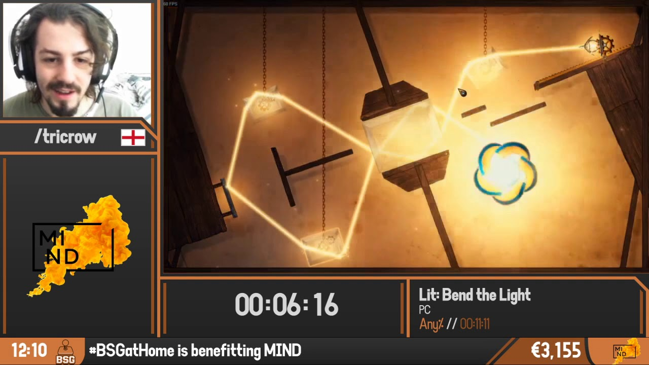 Lit: Bend the Light | any% by Tricrow | BSG @Home 2020