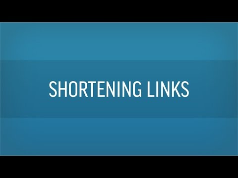How To Shorten A URL / Link