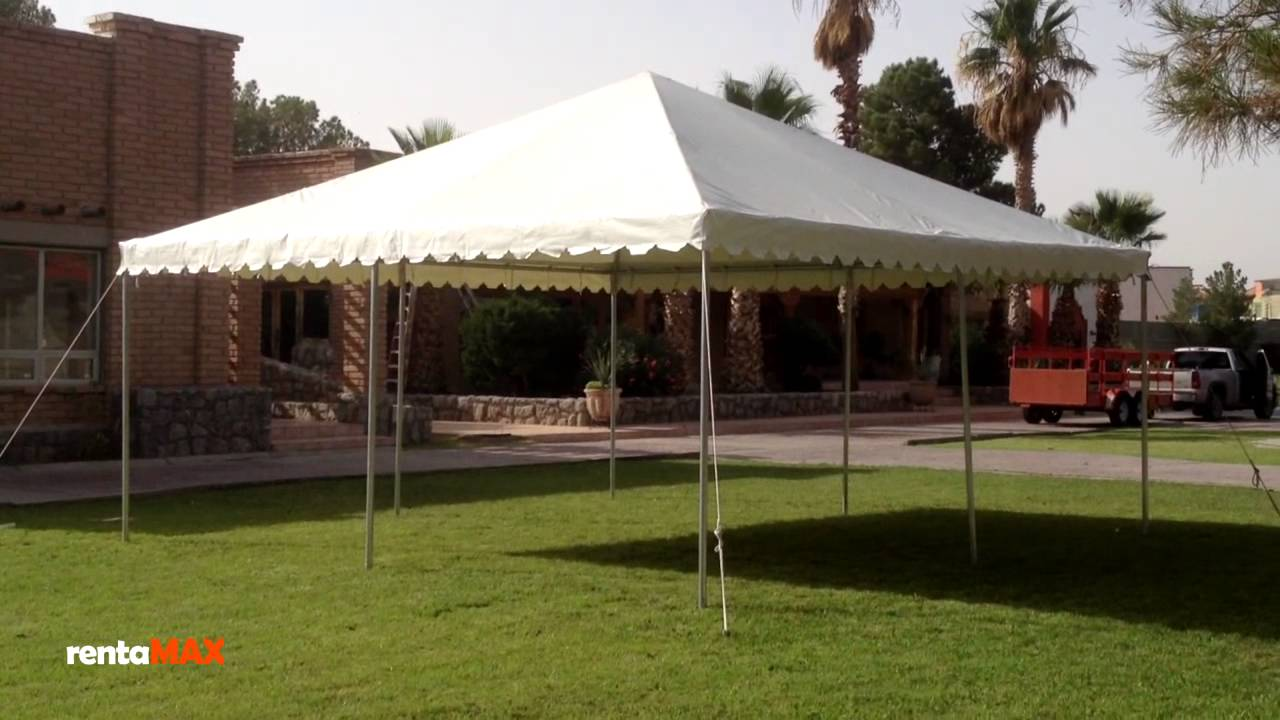Carpa arabe 6x6 mts rentamax youtube for Fabrica de herrajes para toldos