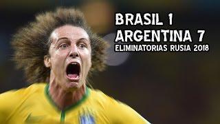 Brasil 1 Argentina 7 - Eliminatorias Rusia 2018 (Parodia)