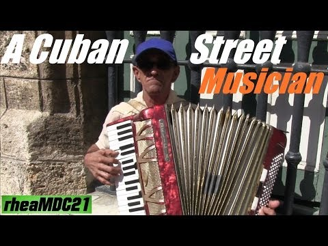 Travel to Cuba: My Trip to Cuba - Street Accordion Musician in Havana