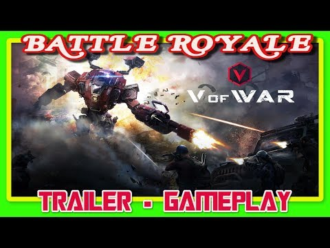 COMO SERÍA UN BATTLE ROYALE TRANSFORMERS REALIDAD VIRTUAL VS HUMANOS PC ?? 👉 V OF WAR 👈 GAMEPLAY