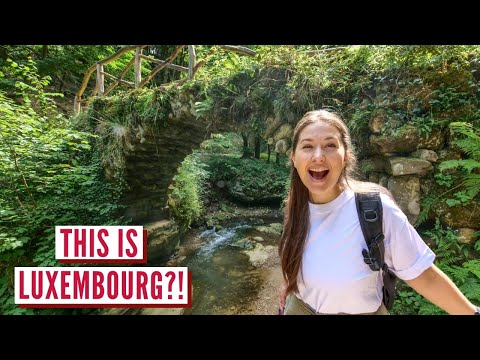 Luxembourg is NOT what you expect | Mullerthal Waterfall | Vanlife Europe Campervan Series ep 5
