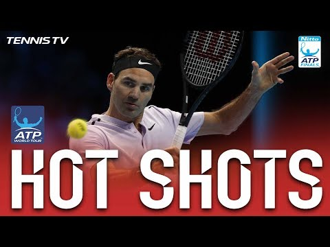 Hot Shot: Federer Sneaks Backhand Pass Nitto ATP Finals 2017