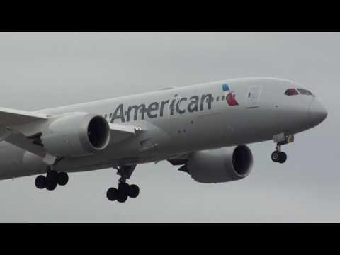American Airlines Boeing 787-800 Dreamliner N818AL Landing London Heathrow 27R