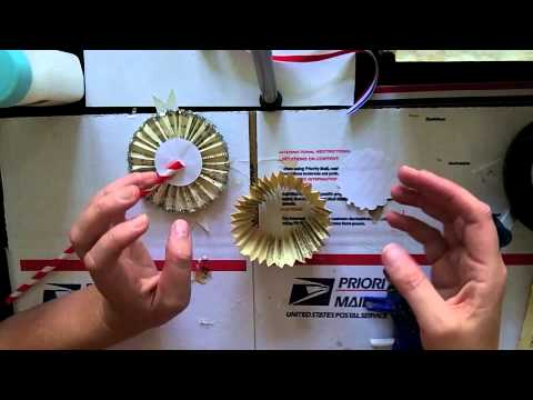 How to Make Paper Medallions for Easy and Cheap Red, White and Blue Party Decor!