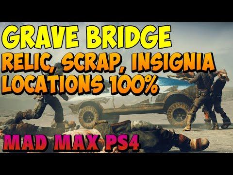 Mad Max - Grave Bridge History Relic, Insignia, Scrap Locations - Gameplay PS4