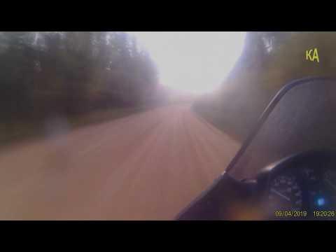 видеорегистратор через Чухлем и Ельбазу (состояние дороги)