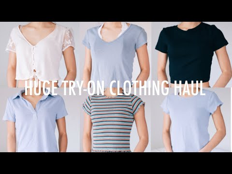 HUGE TRY-ON CLOTHING HAUL + GIVEAWAY